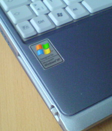 Ubuntop mit XP Sticker